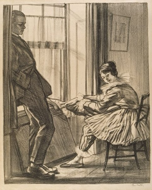 An image of Before rehearsal or Maurice Lambert and Penelope Spencer by Thea Proctor