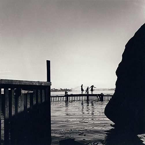 An image of Children fishing on Vaucluse waterfront by David Moore