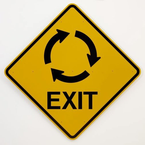 An image of Exit strategy by Richard Tipping