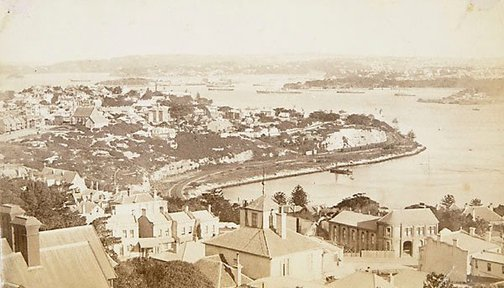 An image of Views in Sydney Harbour (Lavender Bay) by Unknown