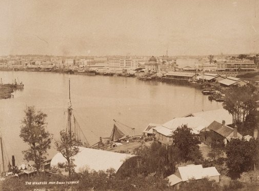 An image of View of Brisbane by John Hogg