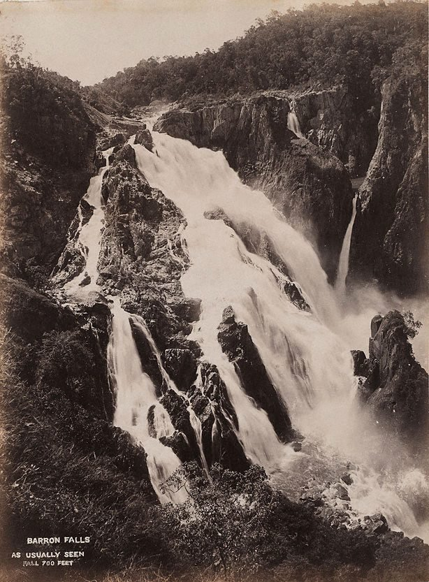 An image of Barron Falls. 700 ft
