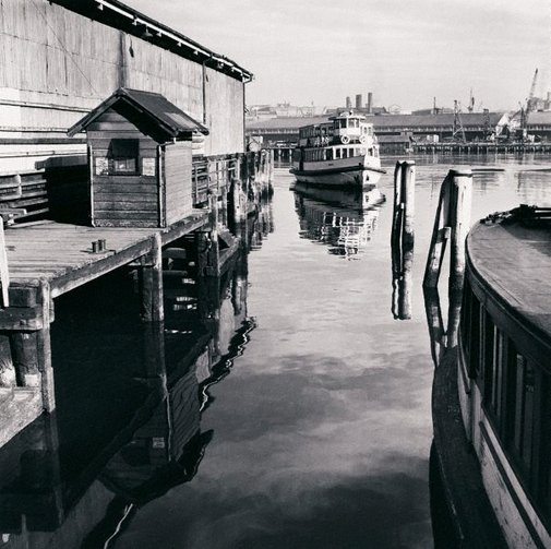 An image of Ferry at Erskine Street Wharf, Sydney by David Moore
