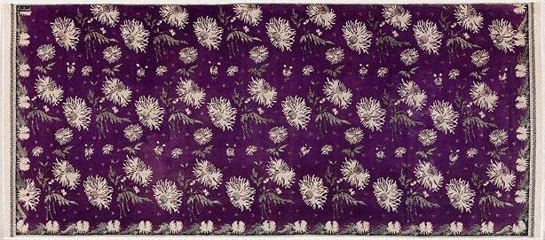 An image of Skirt cloth (kain panjang) with design of anemones