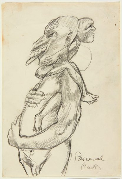 An image of The giant and the dwarf by John Perceval