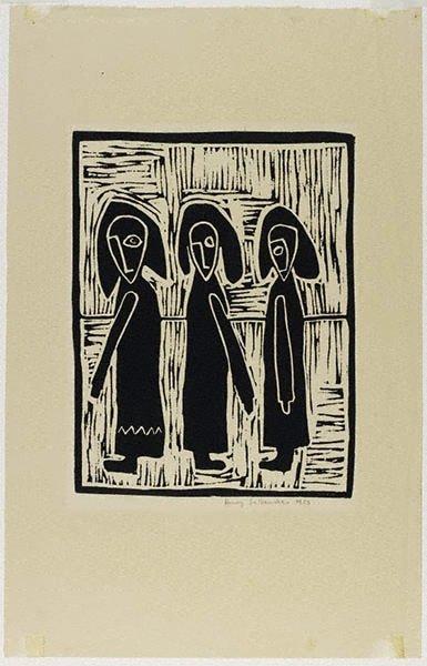 An image of Three women by Henry Šalkauskas