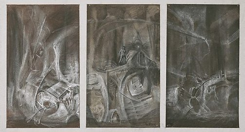 An image of Study for a triptych by James Gleeson