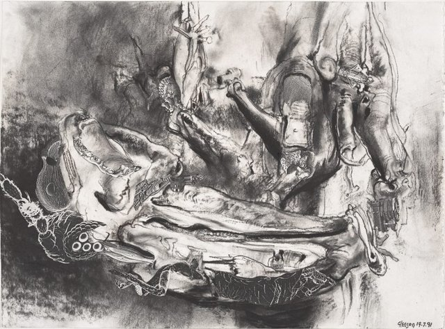 An image of Study for 'The chrysalis dreams of empire'