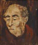 Alternate image of Portrait study for 'The soup kitchen' by Brett Whiteley