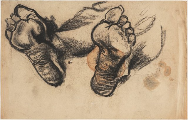 An image of Study of feet for 'Cadaver'