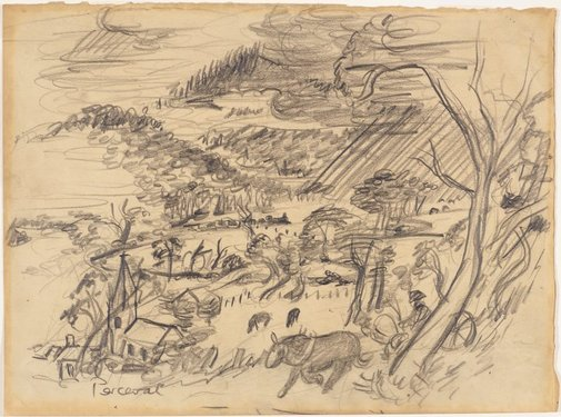 An image of Oakleigh landscape by John Perceval