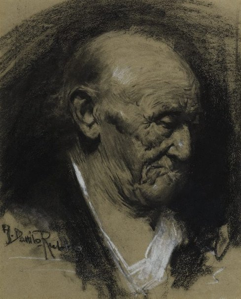 An image of Study of a man's head by Antonio Dattilo-Rubbo