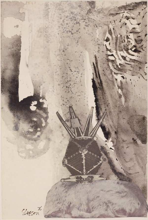 An image of (Untitled small collage drawing)