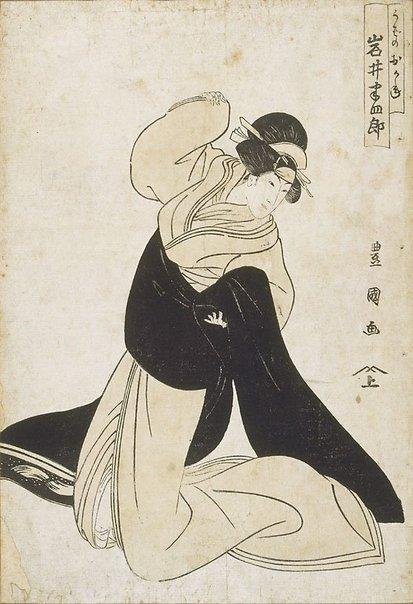An image of Actor Iwai Hanshirô by Utagawa TOYOKUNI