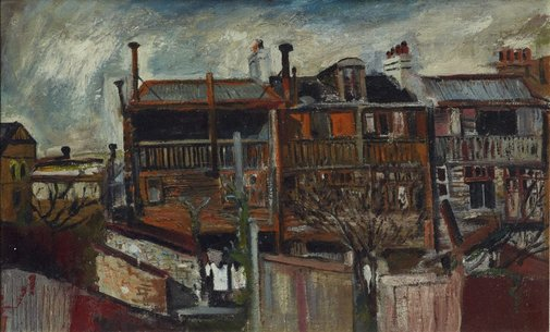 An image of (Terrace houses) by Brett Whiteley
