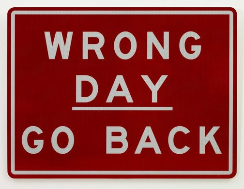 An image of Wrong day by Richard Tipping