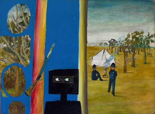An image of The camp by Sidney Nolan