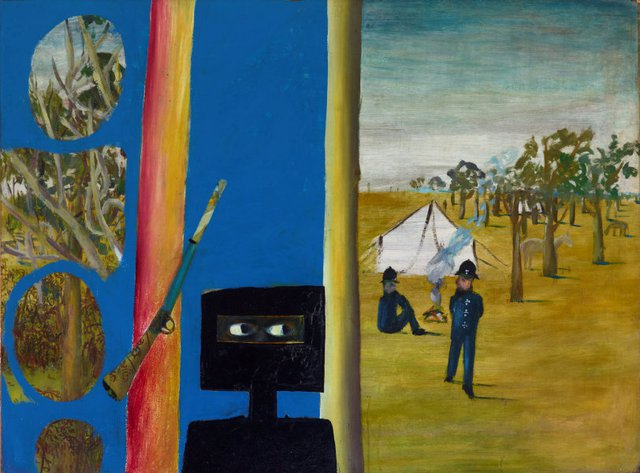 The camp, (1946) by Sidney Nolan