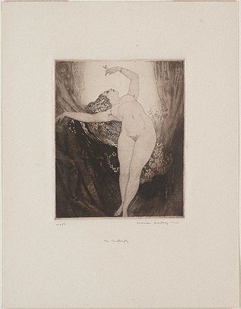 An image of The butterfly by Norman Lindsay