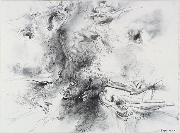 An image of Study for 'Fossils of the devious air'