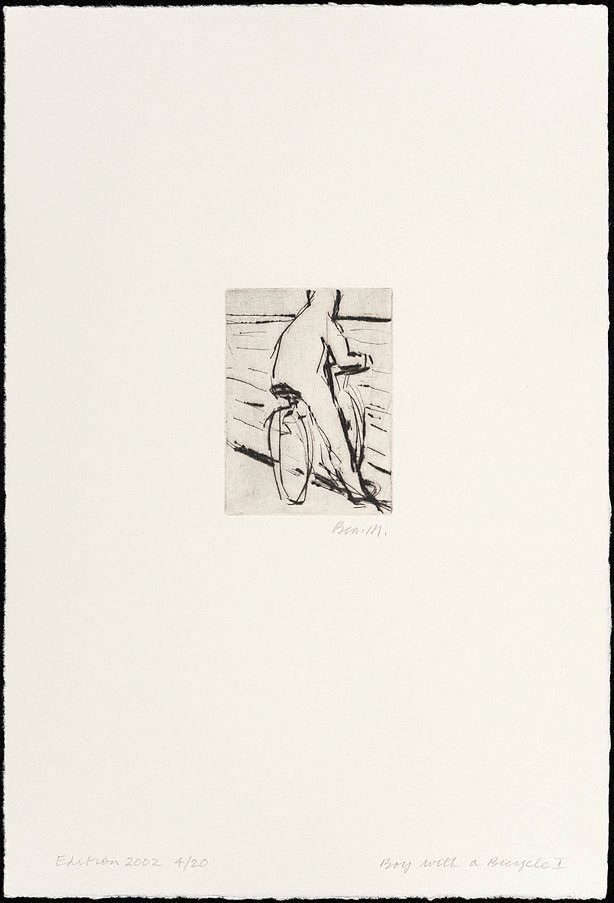 An image of Boy with a bicycle I