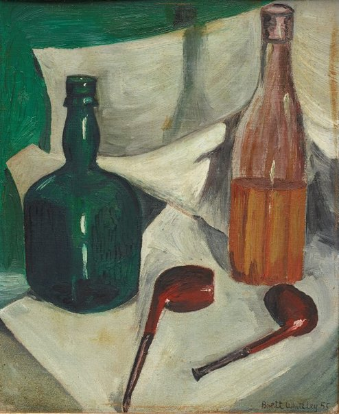 An image of The green bottle by Brett Whiteley