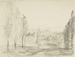 Alternate image of recto: Landscape verso: Landscape with avenue and Stepped path with fence by Lloyd Rees
