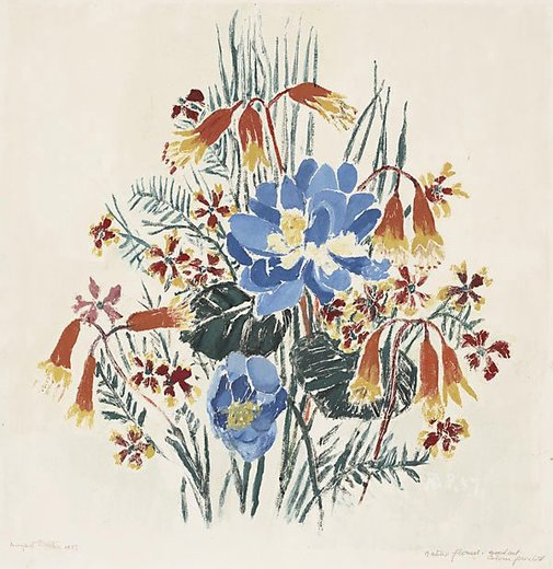 An image of Native flowers of Australia by Margaret Preston