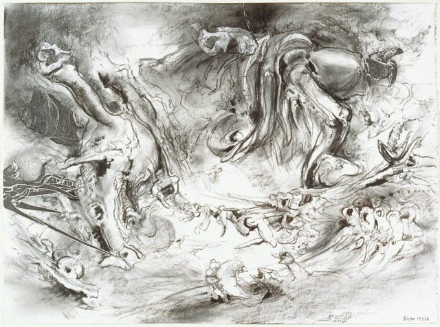 An image of Study for 'At the start of the long river'