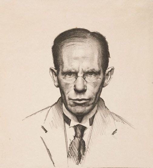 An image of Self portrait by JS MacDonald