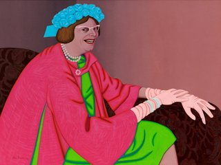 AGNSW collection John Brack Barry Humphries in the character of Mrs Everage 1969