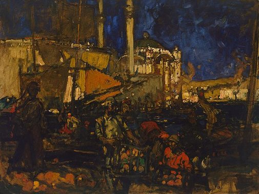An image of The Golden Horn by Sir Frank Brangwyn
