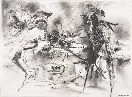 An image of Study for 'The authority of the shell' by James Gleeson
