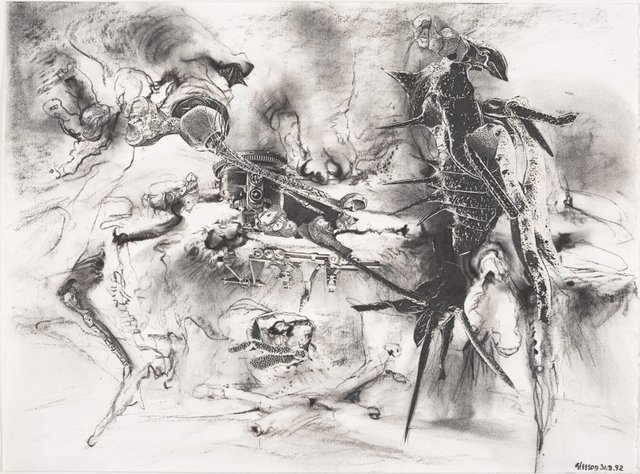 An image of Study for 'The authority of the shell'