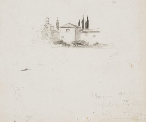 An image of Italian house by Lloyd Rees