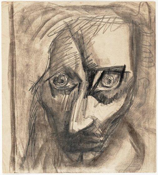 An image of Self portrait by Albert Tucker
