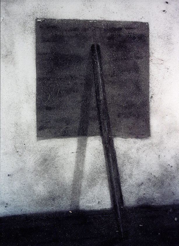 An image of Richard Serra, prop, 1968... (picture of dust)
