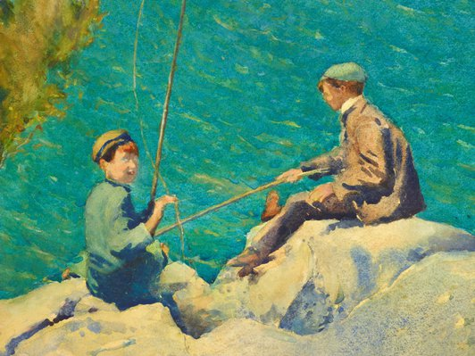 Alternate image of Boys fishing or The compleat anglers by J J Hilder