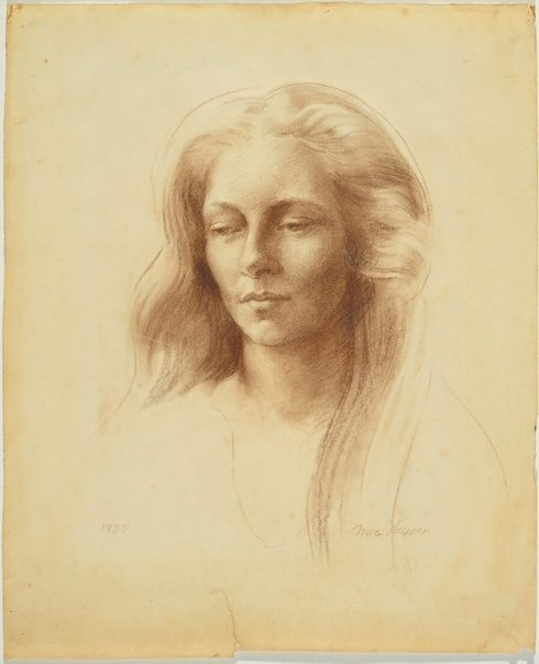 An image of Portrait of Evie Stokes by Nora Heysen