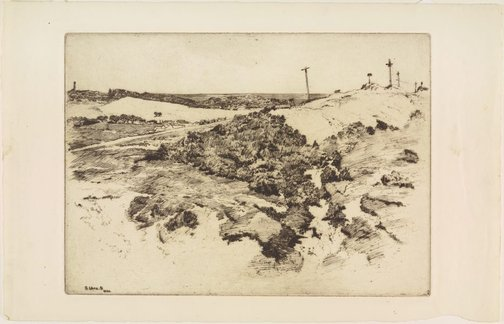An image of Sandhills, Bellevue Hill by Sydney Ure Smith
