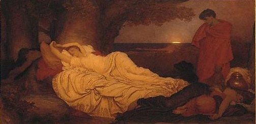 An image of Cymon and Iphigenia by Lord Frederic Leighton