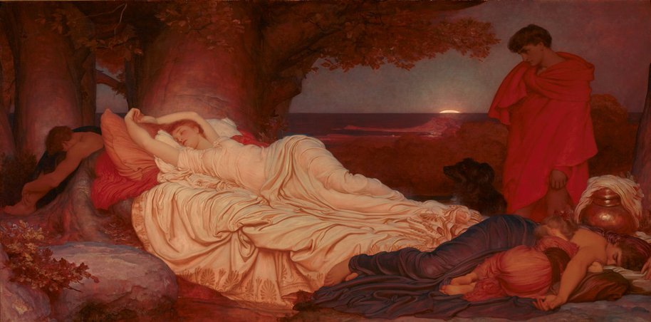 AGNSW collection Frederic, Lord Leighton Cymon and Iphigenia (1884) 210.1976