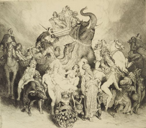 An image of Merchandise by Norman Lindsay