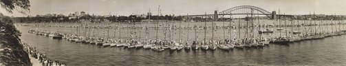 An image of Untitled (Queen's visit, Sydney Harbour) by C.J. Buckley & Sons