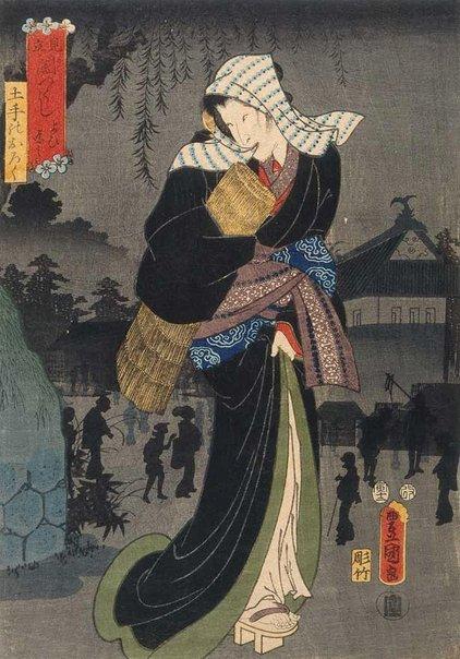 An image of Variety of darkness: evening darkness by Utagawa Kunisada/Toyokuni III