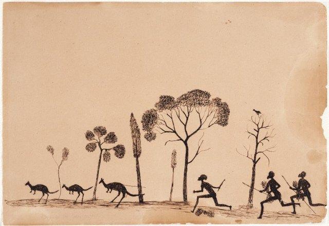An image of Spearing the kangaroo