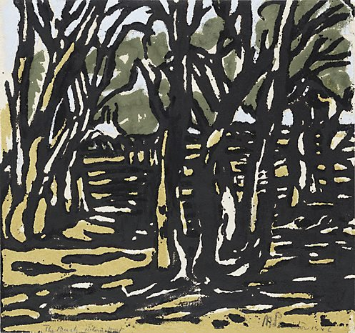 An image of The bush by Margaret Preston