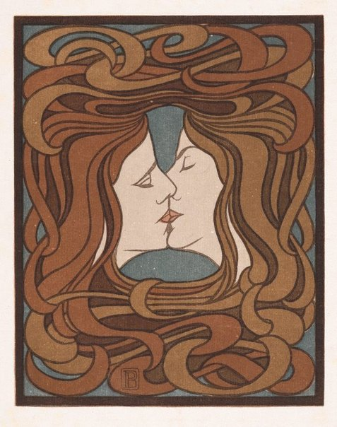 An image of The kiss by Peter Behrens