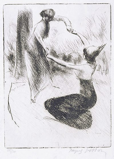 An image of Gracious help by Jacques Villon