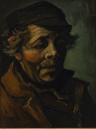 AGNSW collection Vincent van Gogh Head of a peasant 1884